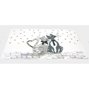 Set de table chat achat vente set de table chat pas - Set de table plastifie ...