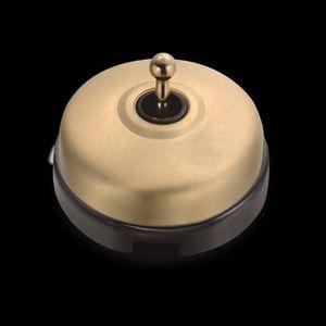 DIMBLER FONTINI 60310523 Bouton Poussoir Carillon Porcelaine Blanche Coque Dor/ée R/éf