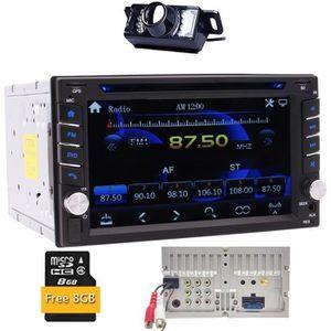 AUTORADIO Car Audio Double Din 2DIN 6.2 Écran tactile DVD MP