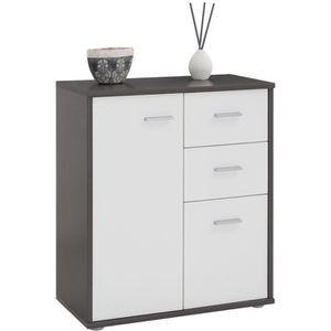 COMMODE DE CHAMBRE Buffet REMY, commode meuble de rangement avec 2 ti