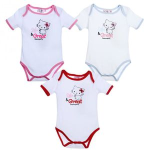 BODY Lot de 3 Body Bébé Hello Kitty