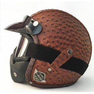 CASQUE MOTO SCOOTER 2018 nouveau casque moto cool avec masque 6