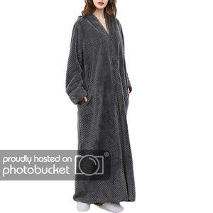 PYJAMA Pyjama Homme en Polaire Longue Hiver Gris XL