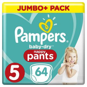 COUCHE Pampers Baby-Dry Pants Taille 5, 12-17 kg, 64 Couc