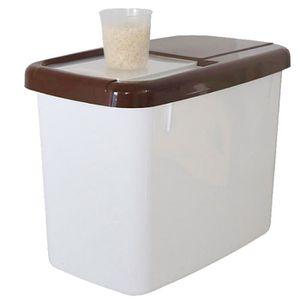 Scelle Cereales Boite De Rangement En Plastique Pour La Farine Riz Sucre Aliments The Majoz 12l Boite De Stockage Riz Conservation Des Aliments Boites A Cereales