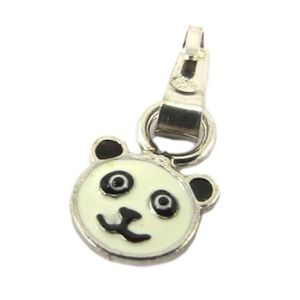 PENDENTIF VENDU SEUL Pendentif Argent 'Panda' blanc noir [P3264]