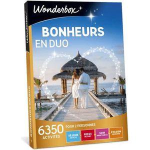 COFFRET THÉMATIQUE Wonderbox - Box cadeau en amoureux - Bonheurs en d