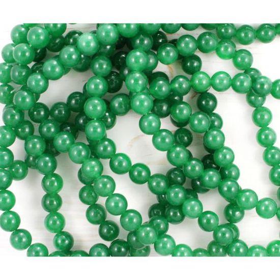 Tree Agate Perles Rondes 6 mm Blanc//Vert 60 PCS pierres précieuses Bijoux Making Crafts