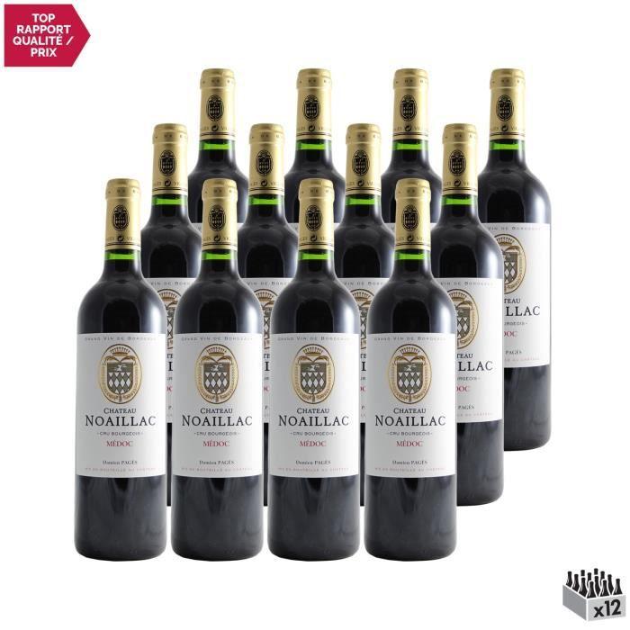 Château Noaillac Rouge 2018 - Lot de 12x75cl - Vin Rouge de Bordeaux - Appellation AOC Médoc - Cépages Cabernet Sauvignon, Petit Ver