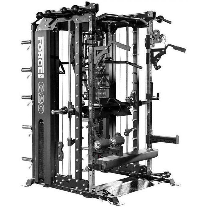 G20 Station de Musculation , Smith Machine, Rack à Squat et Vertical Leg Press Force USA