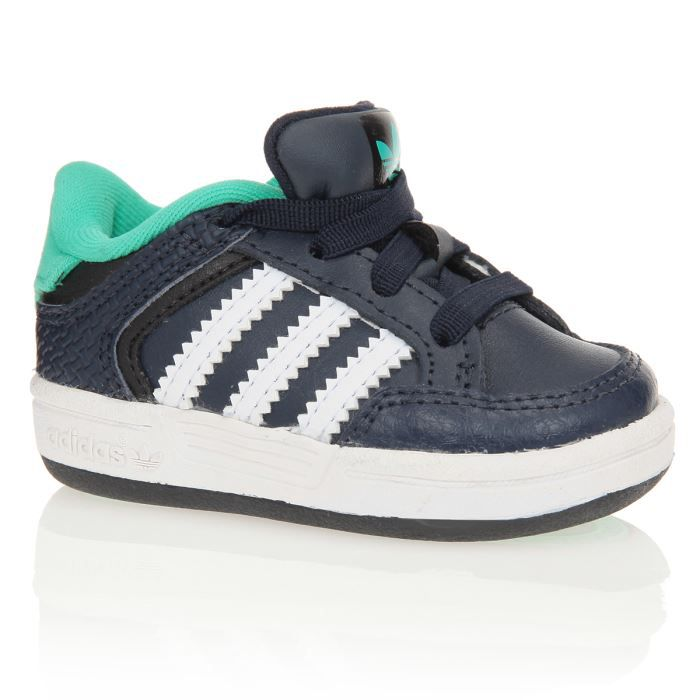 adidas baskets varial chaussures b b gar on marine blanc et turquoise achat vente basket. Black Bedroom Furniture Sets. Home Design Ideas