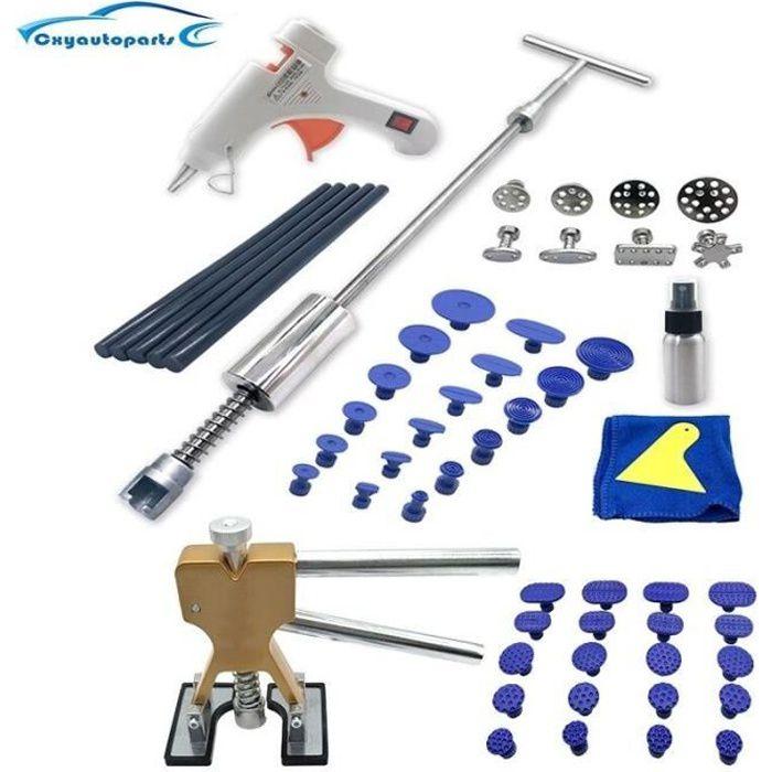 Outil de débosselage pour carrosserie de voiture, Kit d'extraction de débosselage, marteau coulissant, ventouses pour les dommages c