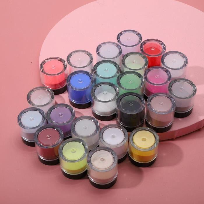 Poudre acrylique Cristal Nail Art Conseils Décoration-Outil de manucure acrylique (24 couleurs)