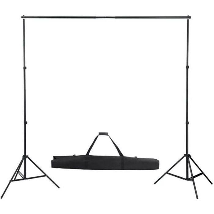 Support de fond avec système pour studio photo télescopique 155-300 cm