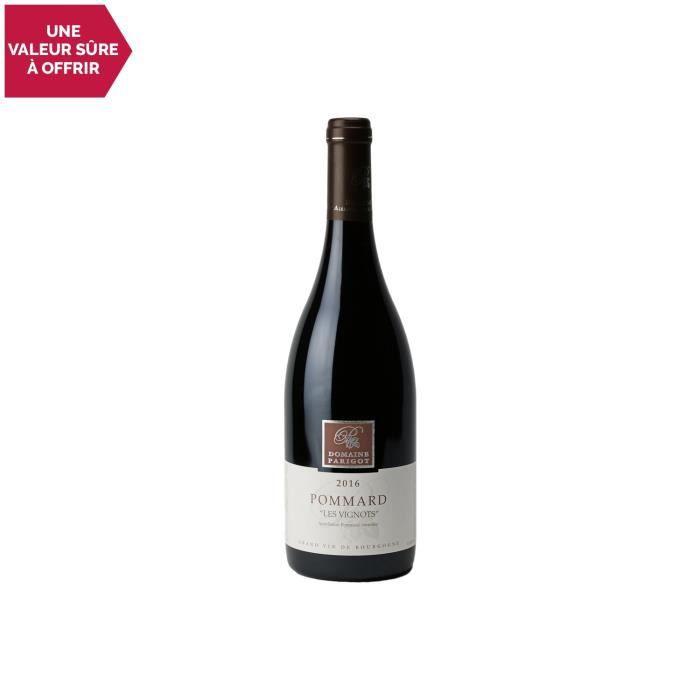 Pommard Les Vignots Rouge 2016 - 75cl - Domaine Parigot Père et Fils - Vin AOC Rouge de Bourgogne - Cépage Pinot Noir