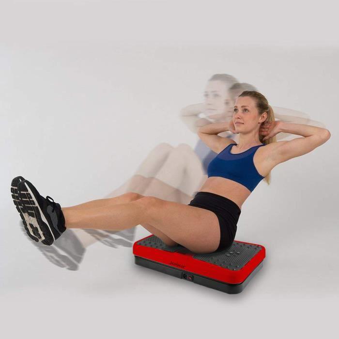 KYUCC@Vibration Plate, Plate-Forme de Vibration Appareil d'Entraînement á Fitness Vibrations Plateforme Oscillante-Rouge et Noir