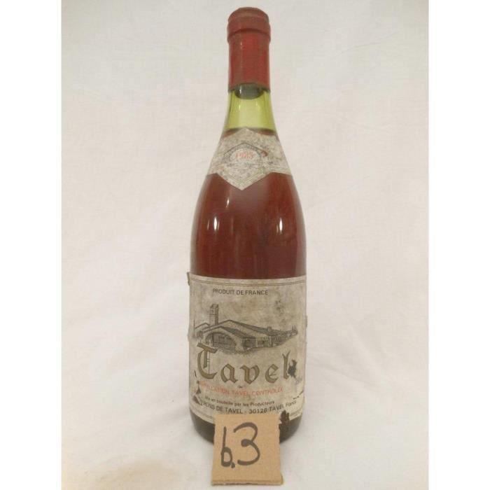 tavel vignerons de tavel b3 rosé 1985 - côtes du rhône france