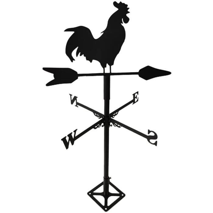 Girouette de Jardin Extérieur CoqGirouette de Toit en MétalIndicateur de Direction du VentOutils de MesureDécorations pour Jard 31
