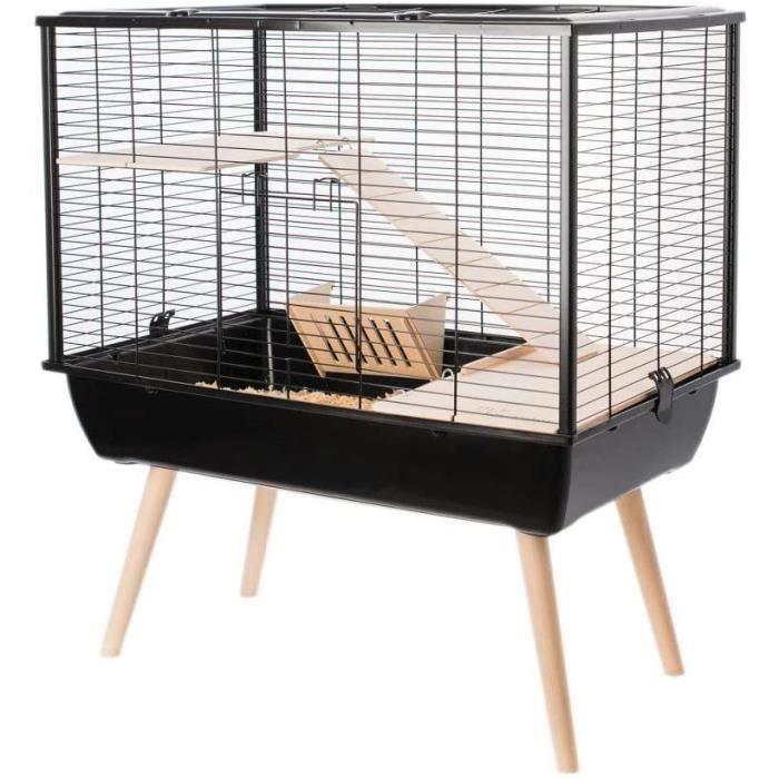 Cage Neo Muki Grand Rongeur L 77.5 X P 47.5 X H 87.5 Cm Noire 324