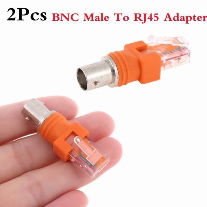 Connecteurs de Type F RF femelle à RJ45 mâle, adaptateur de coupleur de baril Coaxial, connecteurs RJ4 objet decoratif SSP3008