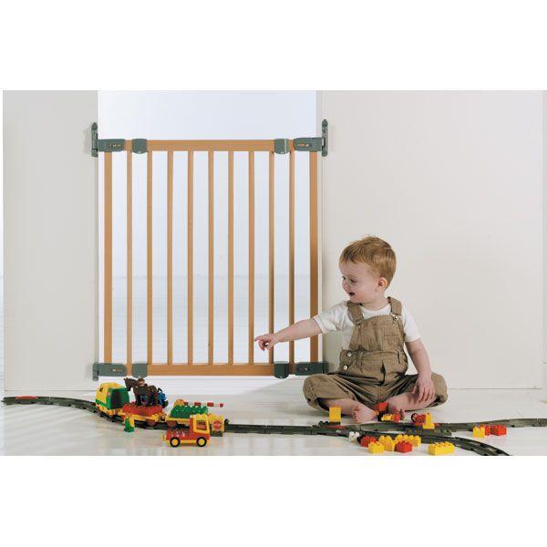 Barriere Securite Baby Dan Flexi fit Bois argent