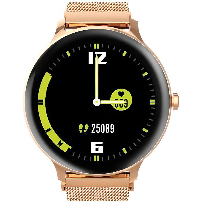 Blackview X2 Montre Connectée Femme Homme Smartwatch Fitness Tracker Montre Intelligente IP68 Étanche 9 Modes Sportifs - Or