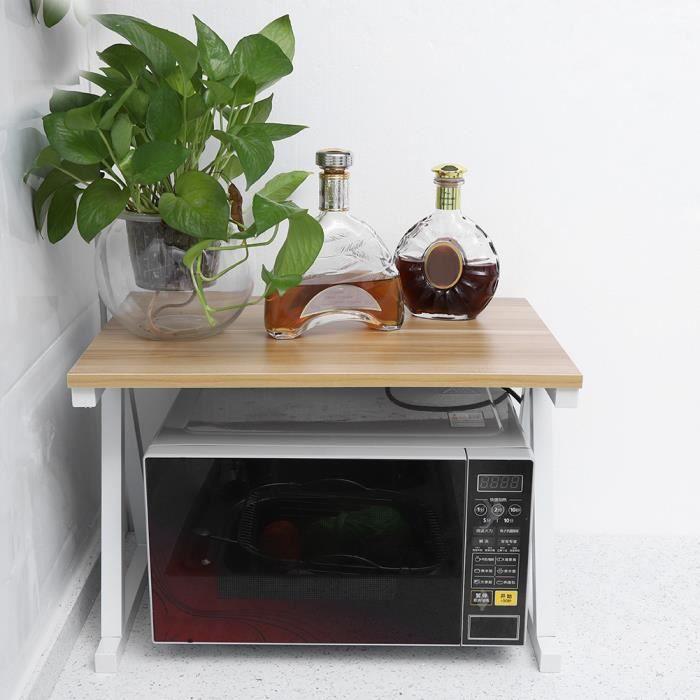 Étagère de cuisine sur pieds pour micro-ondes Étagère métallique 57 * 38 * 38 cm MONSEUL