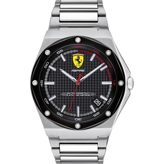 Ferrari-Montre Analogique pour Homme à movement Quartz en Acier inoxydable - 0830666