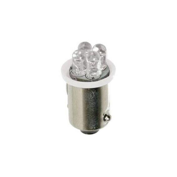 Paire d'ampoules BA9S à 4 LED - 24V - Blanc