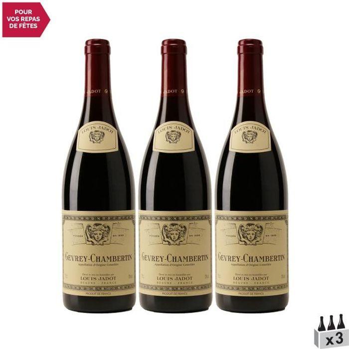 Gevrey-Chambertin Rouge 2015 - Lot de 3x75cl - Louis Jadot - Vin AOC Rouge de Bourgogne - Cépage Pinot Noir