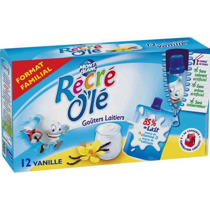 MONT BLANC Récré O'lé Gourdes vanille 12x85g