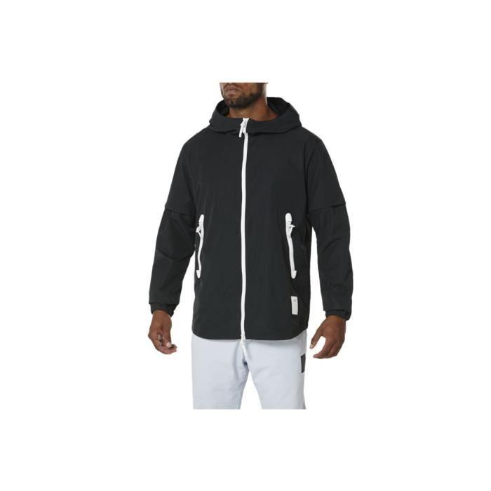 Asics Nylon Zip Hoodie Jkt A16061-0090 veste pour homme Noir
