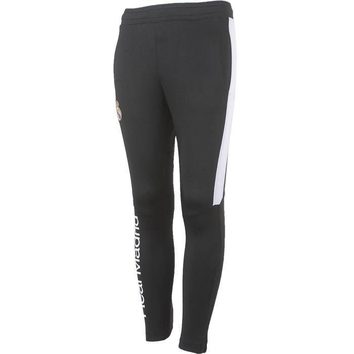 Pantalon training Real Madrid - Collection officielle - Taille enfant - Noir
