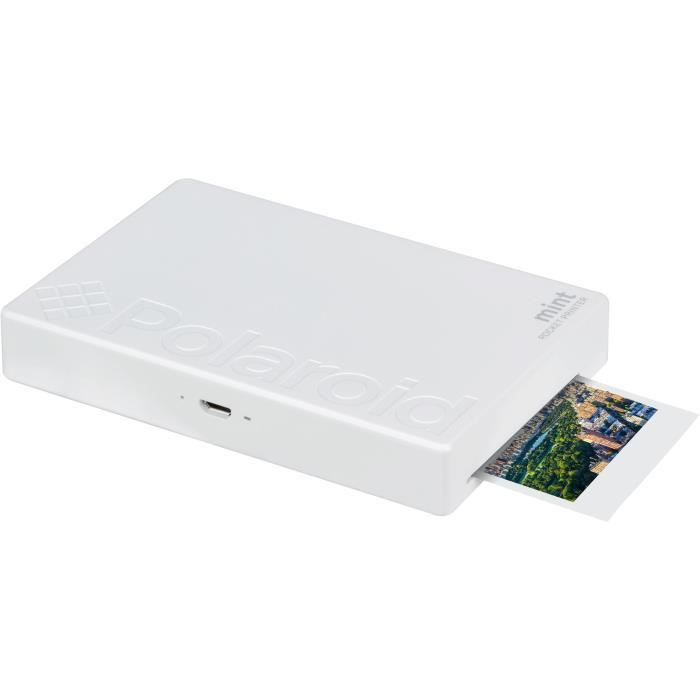 POLAROID POLMP02W Imprimante photo mobile Bluetooth - Impression format 2-x3- - Blanc