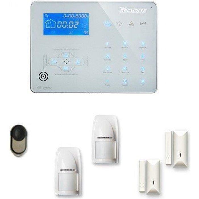 Alarme maison sans fil ICE-B 1 à 2 pièces mouvement + intrusion - Compatible Box internet