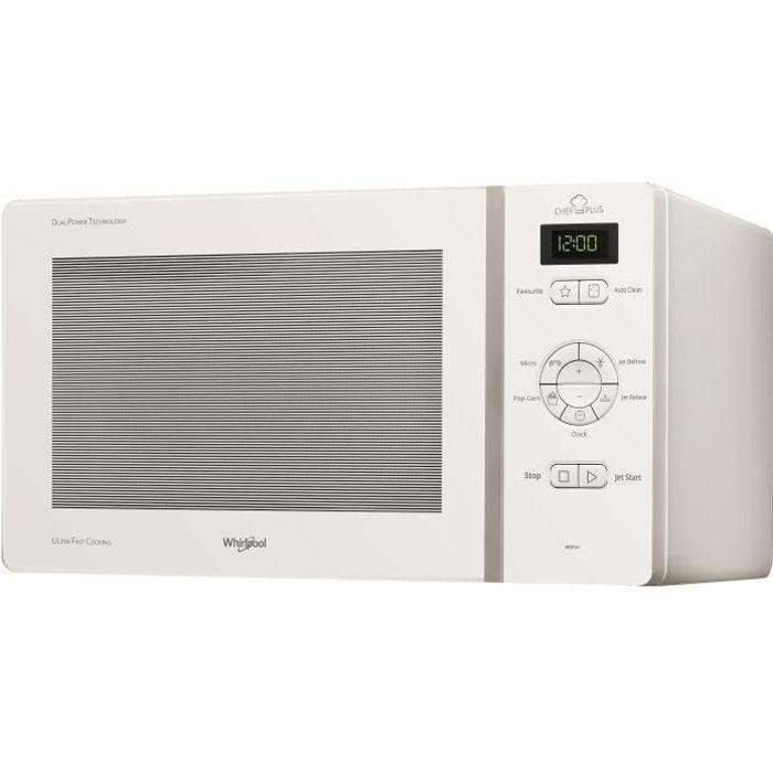 WHIRLPOOL MCP341WH-Micro ondes monofonction blanc-25 L-800 W-Pose libre
