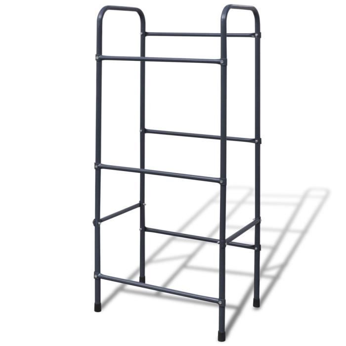 etageres industrielles etagere pour caisses en acier. Black Bedroom Furniture Sets. Home Design Ideas