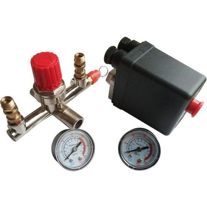 kit doutils de pi/ège de s/éparateur deau de filtre de compresseur dair de voiture de 1//4 pouce avec la mesure de r/égulateur Compresseur dair