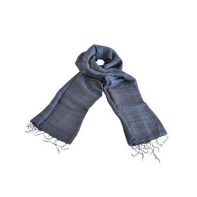 foulard en soie sauvage bleu gris femme homme achat vente echarpe foulard foulard en. Black Bedroom Furniture Sets. Home Design Ideas