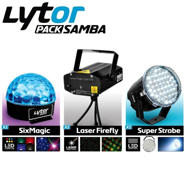 lytor samba pack jeux de lumiere laser firefly super. Black Bedroom Furniture Sets. Home Design Ideas