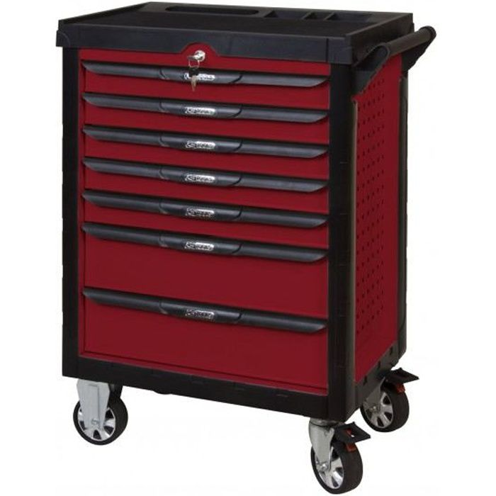 servante pearl line rouge 7 tiroirs ks tools achat vente desserte chantier cdiscount. Black Bedroom Furniture Sets. Home Design Ideas