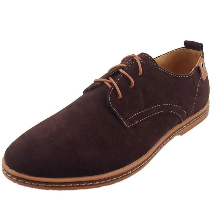 CHAUSSURES Homme CUIR SUEDE MARRON T 40 hYSizaq