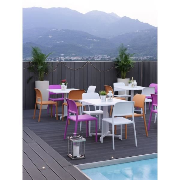 Chaise NARDI Riva Bistrot - Blanc - Achat / Vente fauteuil jardin ...