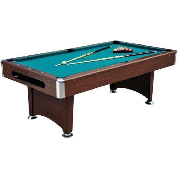 paris prix table de billard am ricain 220cm marron. Black Bedroom Furniture Sets. Home Design Ideas