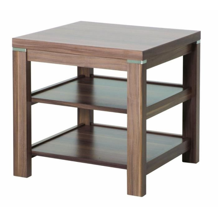 Table d 39 appoint en mdf coloris noyer l45 x p45 x h46 cm achat vente - Table and co vente en ligne ...