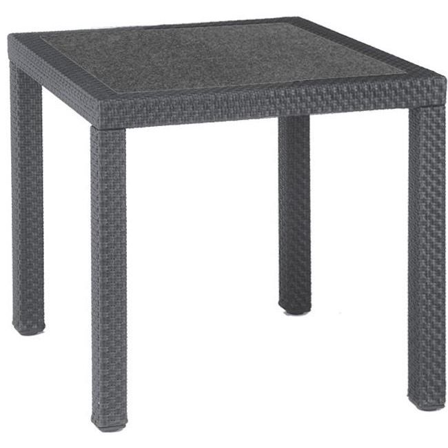 Table de jardin carr e en r sine tress e colori achat vente table de jar - Achat table de jardin ...
