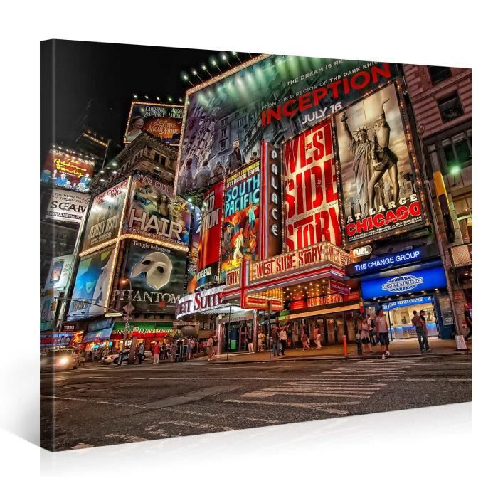 tableau sur toile new york city 100x75cm achat vente tableau toile toile cdiscount. Black Bedroom Furniture Sets. Home Design Ideas