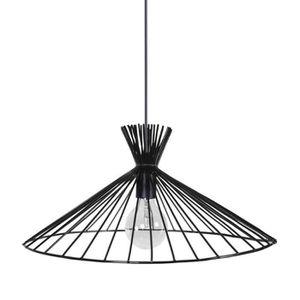 LUSTRE ET SUSPENSION KONE Lustre - suspension filaire noire Ø47 cm E27