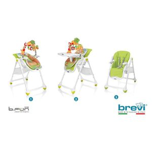 CHAISE HAUTE  BREVI - Chaise b.fun  2 en 1 transat et chaise rég