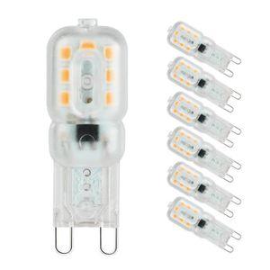 AMPOULE - LED Ampoule Led G9 Lampe, Blanc Chaud 3000K, G9 LED 3W